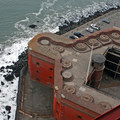 Fort Point as seen from above on the Golden Gate Bridge.- Explore History and the Outdoors at these 6 Coastal Forts