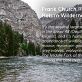 Frank Church Wilderness in Idaho.- Nifty, Nifty, Look Who's Fifty