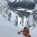 Bootpacking up Grand Daddy Couloir.- How to Get Into Backcountry Skiing + Boarding