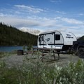 Summit Lake Campground.- An Adventurer's Guide to Canada's Northern Rockies