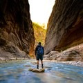 """Its encouraging to see how many regular day visitors were willing to wade through the cold Virgin River at 6am."" Zion Narrows, UT- Whose Lands?"