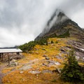 Gunsight Pass shelter on the Continental Divide.- A Guide to Backpacking Glacier via Amtrak