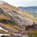 Incredible geology formations in Gunsight Pass. - A Guide to Backpacking Glacier via Amtrak