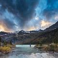 Sunset at Gunsight Lake.- A Guide to Backpacking Glacier via Amtrak
