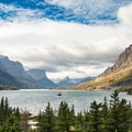 Wild Goose Island in Saint Mary Lake.- A Guide to Backpacking Glacier via Amtrak
