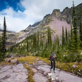 Final push into Sperry Campground.- A Guide to Backpacking Glacier via Amtrak
