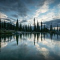 One of the lakes near Sperry Campground.- A Guide to Backpacking Glacier via Amtrak