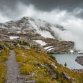 The views toward Comeau Pass.- A Guide to Backpacking Glacier via Amtrak
