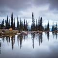 Beautiful backcountry site in Glacier National Park.- A Guide to Backpacking Glacier via Amtrak