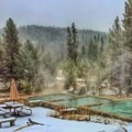 Steamy Hot Springs at Gold Fork. Photo courtesy of McCall Area Chamber of Commerce.- 7 McCall Hot Springs To Soak Your Troubles Away