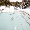 Swimmers at Gold Fork. Photo courtesy of McCall Area Chamber of Commerce.- 7 McCall Hot Springs To Soak Your Troubles Away