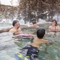 Happy Soakers. Photo courtesy of McCall Area Chamber of Commerce.- 7 McCall Hot Springs To Soak Your Troubles Away