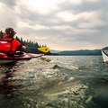 Streamlined strokes on Lake Wenatchee.- 25 Mountain Lake Paddles You'll Love