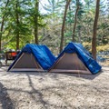 Prepared tents at Hancock Campground.- 5 Incredible Campgrounds to Explore in New Hampshire