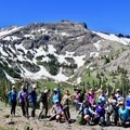 Group hike in Kirkwood, California, at REI Outessa.- Woman In The Wild: Sarah Connette