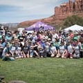 Group shot in Sedona, Arizona.- Woman In The Wild: Lindsey Richter