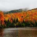 Heart Lake bright with fall color.- 15 Stunning Photos of Autumn in the Adirondacks