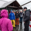 Heli safety talk before boarding.- The Whitecap Way