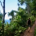 Hiking the Kalalau Trail post downpour.- Woman In The Wild: Sarah Connette