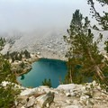 Heart Lake in low visibility.- Hiking + Backpacking in California Winters: From Cold Weather Gear to Trail Safety Skills
