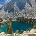 Heart Lake on our only clear day. - Hiking + Backpacking in California Winters: From Cold Weather Gear to Trail Safety Skills