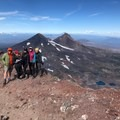 South Sister with some fabulous ladies and Jeff Hester (SoCal Hiker)- The Benefits and Pitfalls of Hiking Challenges