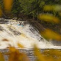 Autumn Fowlersville Falls laps on the Bottom Moose River.- Relicensing the Black River Basin