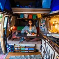 Cooking in my tiny kitchen.- Woman In The Wild: Noami Grevemberg