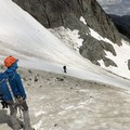 A good view of a mountaineering axe and picket on the pack. - Gear Review: Mammut Trion Light 38