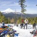 Enjoying tentless views and sharing group gear near Mt Hood- An Intro to Snow Camping
