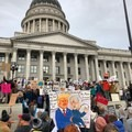 Taking part in the announcement protest at the Utah State Capitol.- President Trump Slashes Utah National Monuments