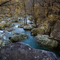 The mining and minerals of the area give the river in Laurel-Snow a beautiful shade of color. This is one of many areas of the Cumberland Trail.- Hidden Gems in Tennessee's Beautiful State Parks