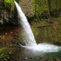 Upper Horsetail Falls.- Hiking Through the Years: 30+ Years in the Columbia River Gorge