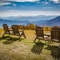 The view from Gooseberry Knob at The Swag on the North Carolina side of the Smokies is like no other. Join The Swag on Wednesdays for a gourmet picnic lunch served right on the bald as you soak up the scenery. - A Guide to Leaf-peeping Weekends in the Blue Ridge Mountains