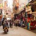 The busy streets of Thamel.- The Realities Behind The Journey