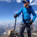 The author with his Summit on the summit of Edith Cavell. The Quark trigger rest can be seen on the shaft. - Gear Review: Petzl Summit Ice Axe