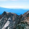 Climbers looking toward Mount Adams (12,280') from the crater rim. - Then and Now: Mount St. Helens