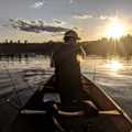 Paddling to the next fishing spot.- A Beginner's Guide to Paddling the Boundary Waters Canoe Area Wilderness