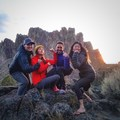 Wrapping up the night with a rad group photo of us ladies at Smith Rock.- Women Rock: Learning to Lead with She Moves Mountains