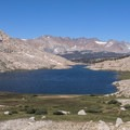 Guitar Lake, a nice place for a break before the Whitney summit.- Summit Trips Along the Pacific Crest Trail