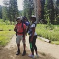 First hike as a family of four! We checked out the wildflower blooms in Albion Basin, Utah.- Woman In The Wild: Nailah Blades