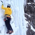 Multiple screws racked well together on Lone Ranger WI4 in the Kananaskis.- Gear Review: Petzl Laser Speed and Laser Speed Light