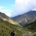 In Peru on the five-day Salkantay Trek. You can see how exhausted I was at such a high elevation (again).- Woman In The Wild: Luz Lituma