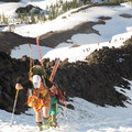 These guys aren't afraid to tap into their feminine side to celebrate their mothers.- Climbing Mount St. Helens for Moms