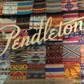 The bright display of Pendleton's blankets.- 2016 Outdoor Retailer Winter Market Review