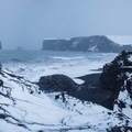 Winter in full force at Dyrhólaey.- Tips for a Safe and Spectacular Winter Iceland Visit