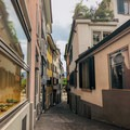 The old town is filled with inviting alleyways.- A Zurich Walking Tour