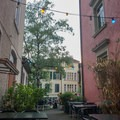 Beautiful beer garden in the university district.- A Zurich Walking Tour