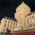 The university library in the evening.- A Zurich Walking Tour