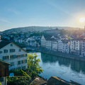 Zurich in the early morning from Lindenhof.- A Zurich Walking Tour